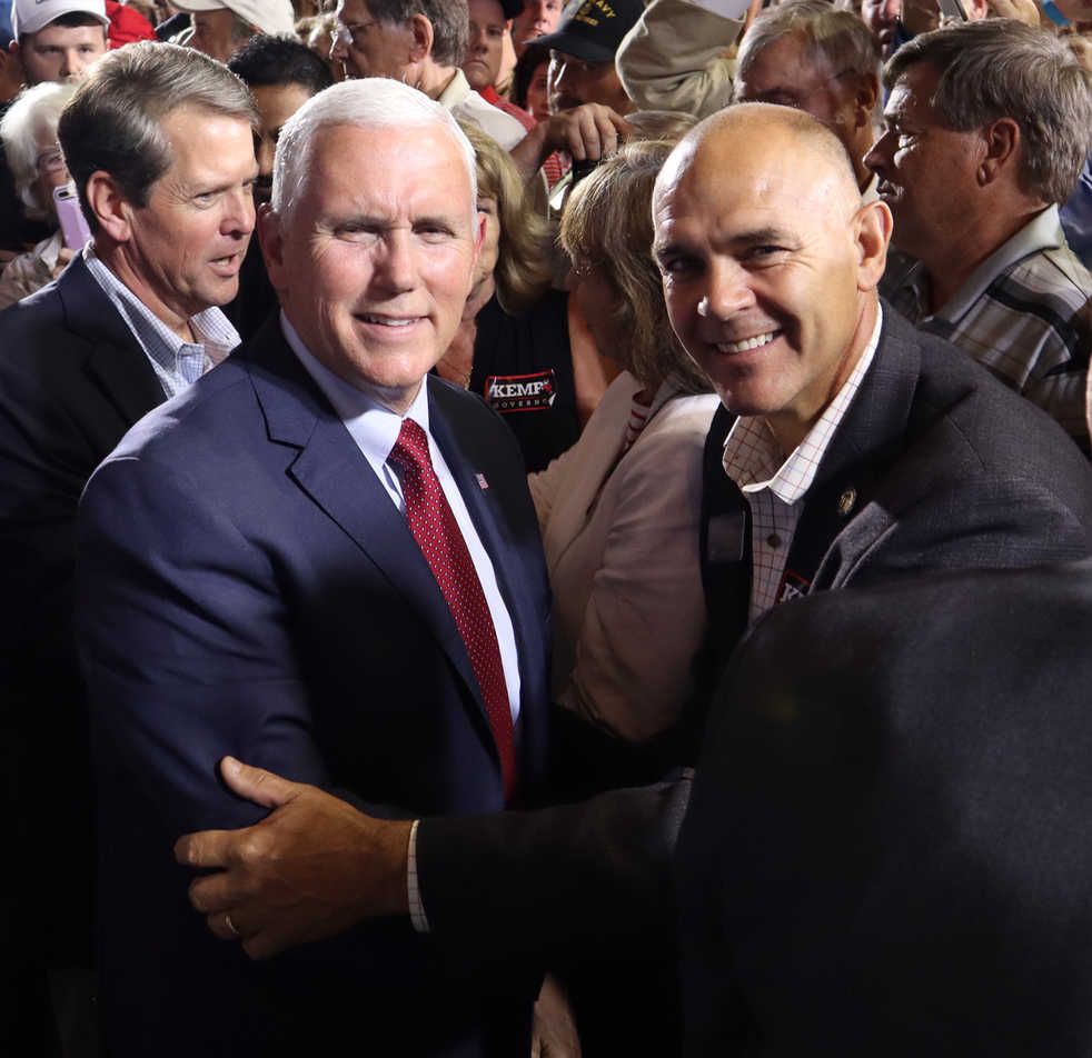Bruce Thompson and Mike Pence